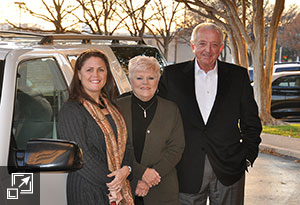 "Bob and Janice Carter donating a vehicle to ""My Friend's House"""