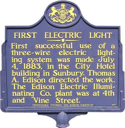 First Electric Light