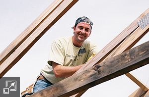 President and Senior Partner, Todd Carter, on a Habitat for Humanity project